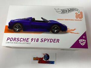 NEW!  Porsche 918 Spyder * 2021 Hot Wheels id Car Case D