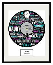 COLDPLAY - MEMORABILIA SCIENTIST - FRAMED ART POSTER PRINT - Ltd Edition
