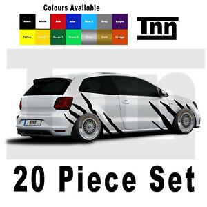 VW Golf Polo Lupo Sticker GTD GTI R Line GT Tiger Stripes Scirocco Decal Vinyl