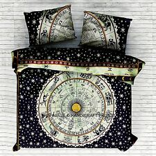 Indian Astrology Duvet Doona Cover Comforter Mandala Hippy Queen Quilt Cover Set