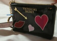 NWT VICTORIA'S SECRET Cosmetic Bag Card Pouch Pink Heart Gold Arrow KeyChain