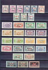 SYRIE LATTAQUIE LATTAKIA 1931 30 STAMPS MOSTLY  MLH *
