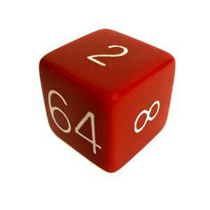 """Backgammon Bakelite Red Doubling Cube 1"""""""