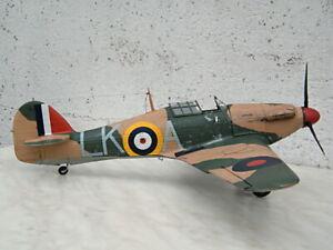 Built plastic 1:24 scale model of British WW2 fighter Hawker Hurricane Mk.I