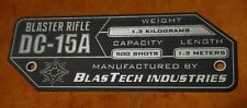 CUSTOM DC-15A BLASTER RIFLE DATA PLATE PROP STAR WARS CLONE TROOPER