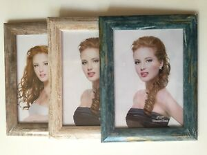 Shabby Chic Rustic Distressed 'Wood Effect' Photo Picture Display Frame