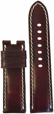 24x22 Dark Burgundy Chromexcel Leather Watch Strap For Panerai Deploy - USA Made