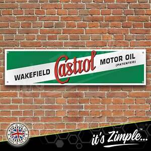 Retro Wakefield Castrol Motor Oil Banner Garage Workshop PVC Trackside Sign