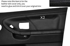 Black stitch 2x porte carte cuir couvre fits BMW E36 Saloon BERLINE 91-98