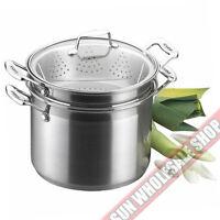 SCANPAN Impact 3 Piece 24cm Double Pasta Steamer Multi Pot! RRP $335.00!