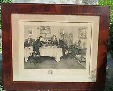 Antique Original Big Etching by James Dobie Walter Dendy Sadler 1908 Signed
