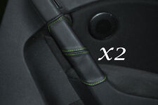 GREEN STITCH FITS VW GOLF MK6 6 VI 2008-2013 2X REAR DOOR HANDLE LEATHER COVERS