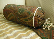 NEW Custom Ralph Lauren Rue Des Artistes Paisley Neckroll Pillow Neck Roll Twill