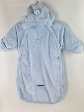 Bon Bebe Blue Baby Snowsuit Bag Teddy Bear Bunting Car Seat Slit 0-9 months