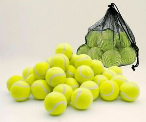24 X TENNIS BALLS Outdoor SPORTS Fun Dog Fetch TOY Play CRICKET Beach Leisure UK