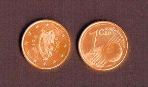 1 CENT d'€ - 2002 - IRLANDE  - Pièce neuvesortie d'un rouleau -