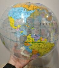 "12"" Inch Inflatable World Globe Map Education Home School Ball Free Shipping"