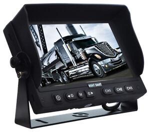 "7"" Reversing Monitor High Specification Auto Dimming & 3AV Inputs 12/24v"