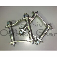 GREASEABLE SHACKLES SUSPENSION HOLDEN COLORADO, ISUZU DMAX 4X4 2012 ON