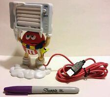 VERY RARE NEW - 2009 RED M&M's USB TABLE PORTABLE COMPUTER FAN PLUG & PLAY