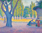 Saint Tropez Fontaine Paul Signac Fine Art Print on Canvas HQ Giclee Home Decor
