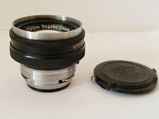 Vintage Nippon Kogaku Japan No. 756647 Nikkor-H 1:2 f=5cm Camera Lens
