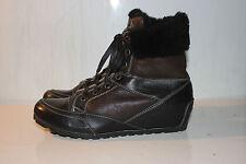 CANDICE COOPER Echtleder High-Top Wedge Sneakers mit Pelz, Gr. 39, 2x getragen!