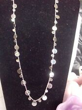"Lia Sophia Silver REFLECTION / PANORAMA Necklace, 34-37"", NWOT"