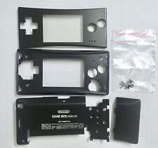 Full Housing Shell Case Cover for Nintendo Gameboy Micro GBM Black