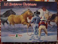 Leanin Tree Lg Christmas Card Set Western Li'L Buckaroo Horses Cowboys 20 Pk New