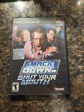 PS2 WWE Smackdown Shut Your Mouth Sony PlayStation 2 Complete TESTED CIB