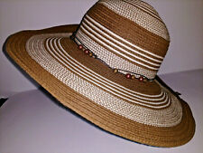 ec69c539a044c Hat SUN N SAND Womens Sun Hat One Size Tan And Brown Wide Brim Packable