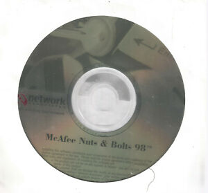McAfee Nuts and Bolts 98 Software CD