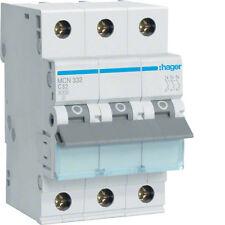Hager MCN332 Leitungsschutzschalter 3polig C-32A 6kA