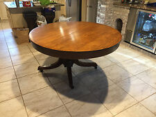 Beautiful Inlaid Round and Oval Antique Table Kitchen or Dinning Room LOOK
