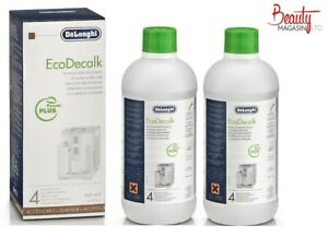 2 X 500ML Bottle DELONGHI Magnifica Espresso Coffee Maker Machine DESCALER Fluid