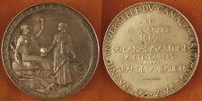 CANAL  DE  SUEZ  , 17  NOVEMBRE  1869 , GRANDE  MÉDAILLE  ARGENT  SUPERBE