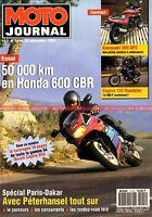 MOTO JOURNAL 1114 Essai Road Test KAWASAKI GPZ 500 HONDA CBR 600 CAGIVA 521 125