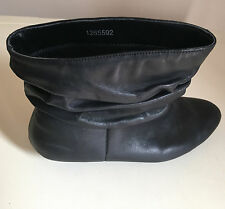 New Look Womens Black Ankle Leather Boots Size 6