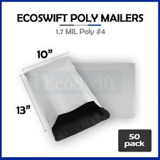 50 10x13 White Poly Mailers Shipping Envelopes Self Sealing Bags 17 Mil 10 X 13