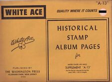 """White Ace 1980-1983 Supplement """"A-13"""" for United States Airmail"""
