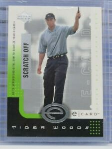 2001 Upper Deck Golf Tiger Woods E-Card Digital Scratch Off #E-TW F49