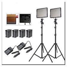 Aputure 2x AL-528W CRI95+ LED Video Light Kit +2x Light Stand +Battery Pack +Bag
