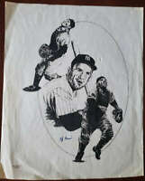 Yogi Berra JSA Coa Hand Signed 11x14 Litho Photo Autograph