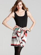$395 DKNY Aluminum Black Color Block Sarong Wrap Skirt System Combo Dress L