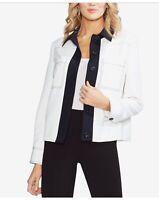 Vince Camuto Women's Colorblocked Jacket (Ivory, Size 8) MRSP $149