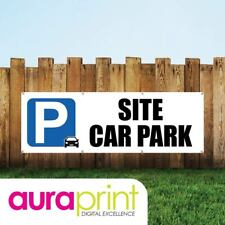 Site Car Park Vinyl Sign For Businesses With Eyelets-029