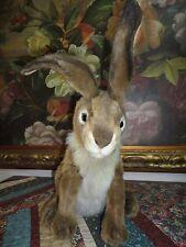 Hansa Large Rabbit 15.5 inch 2001 Hand Painted Airbrush Detailing Poseable