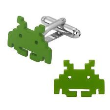 Space Invaders Fashion Novelty Cuff Links Game Cartoon Series with Gift Box
