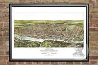 Old Map of Philadelphia, PA from 1907 - Vintage Pennsylvania Art Historic Decor
